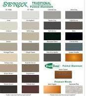 Standard Available Colors